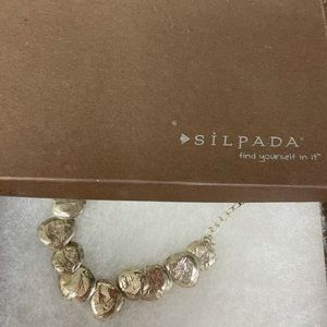 Retired preowned Silpada silver disc necklace